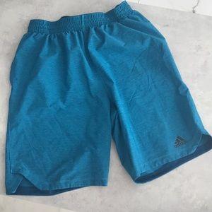 Men's Adidas Basketball style Shorts/Blue/Large
